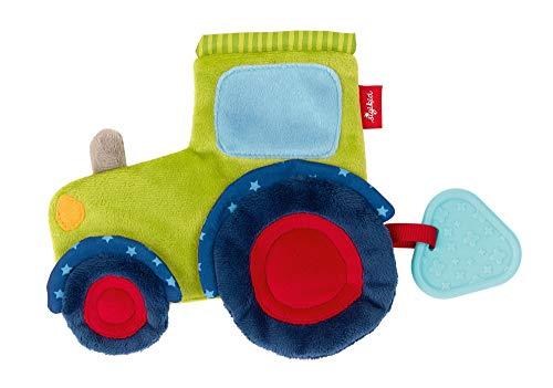 sigikid, Mädchen und Jungen, Aktiv-Knistertuch, Traktor, Grün/Blau, 42301