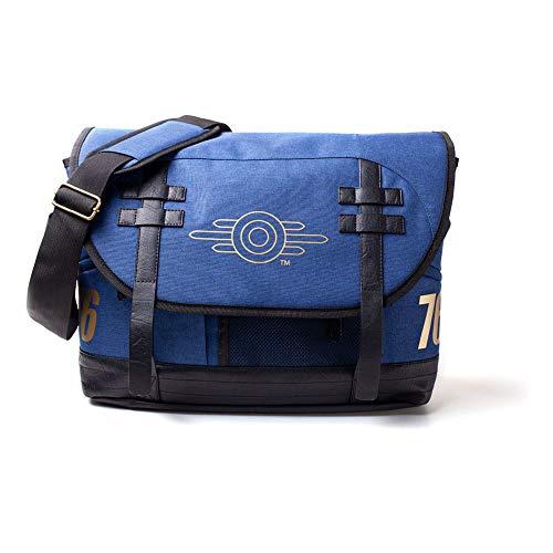 Fallout FALLOUT 76 Vault-tec Logo Messenger Bag, Unisex, One Size, Blue/Black (MB645372FAL) Rucksack, 42 cm, Blau (Blue)