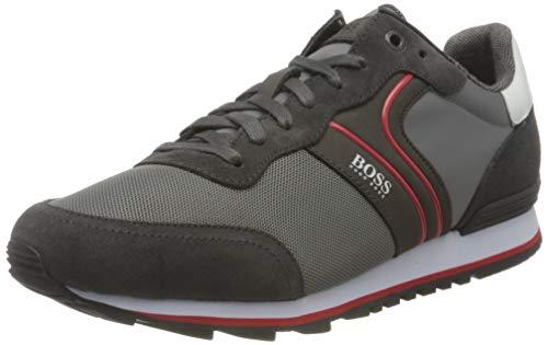 BOSS Herren Parkour Runn Sneakers im Laufschuh-Stil aus Veloursleder und Mesh Größe 44