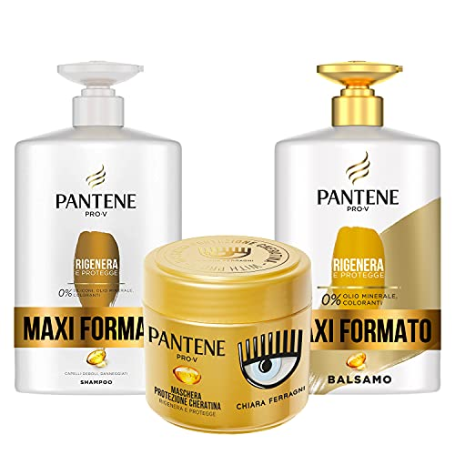 Pantene Pro-V by CHIARA FERRAGNI Shampoo Rigenera & Protegge per Capelli Deboli o...