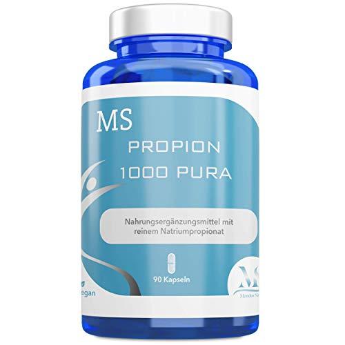 MS Propion 1000 Pura, 90 Kapseln | Nahrungsergänzungsmittel | Natriumpropionat | Vegan | Laktose- & glutenfrei