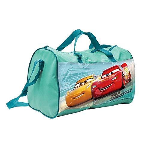 Generico Borsa Borsone Cars Saetta McQueen Cruz Ramirez Tote da Viaggio Bambino Palestra CM. 38X20 H.23 - 57887