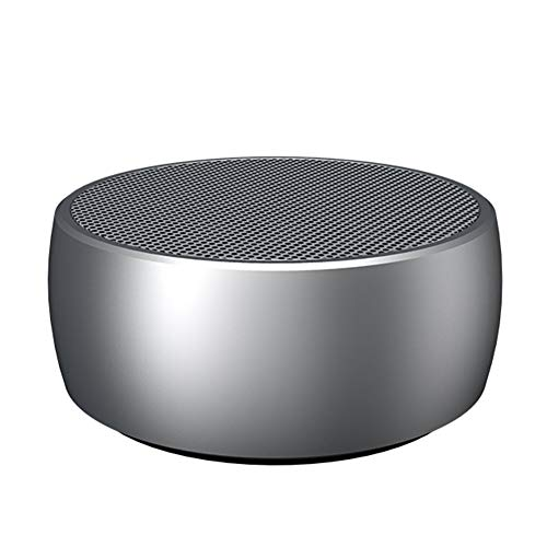 WQGNMJZ Bluetooth Audio X1 Mini Wireless Metall-Stahl-Kanone Bluetooth-Lautsprecher Subwoofer Outdoor-Geschenk Kleinen Sound,Silver