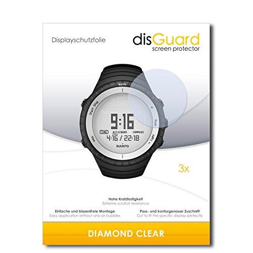 disGuard 3 x Schutzfolie Suunto Core Glacier Gray Displayschutz Folie DiamondClear unsichtbar