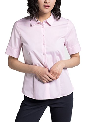 eterna Comfort Fit Bluse Halbarm Hemdenkragen Streifen rosa Größe 50