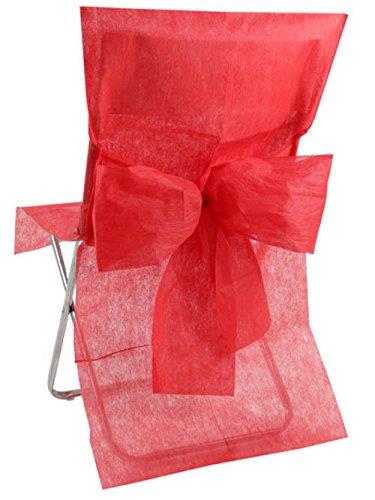 10 Housses de chaise Rouge - taille - Taille Unique - 212660