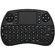 NinkBox Mini Clavier avec Touchpad sans Fil Wireless Tactile pour Android TV Box, Mini PC Ergonomique Design 92 Touches