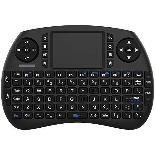NinkBox WiFi 2.4GHz Mini Wireless Keyboard with Touchpad, Wireless Mini Keyboard for Android TV Box