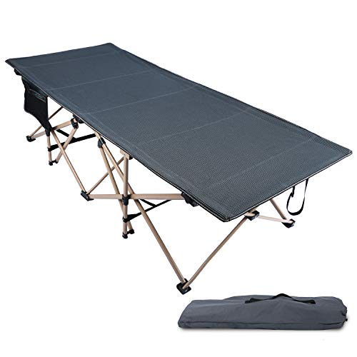 REDCAMP Oversized Folding Camping Cots for Adults 500lbs, Double Layer Oxford Strong Heavy Duty Extra Wide & Large Sleeping Cots for Camp Office Use, Portable with Carry Bag, Gray Oversized 79x33.5