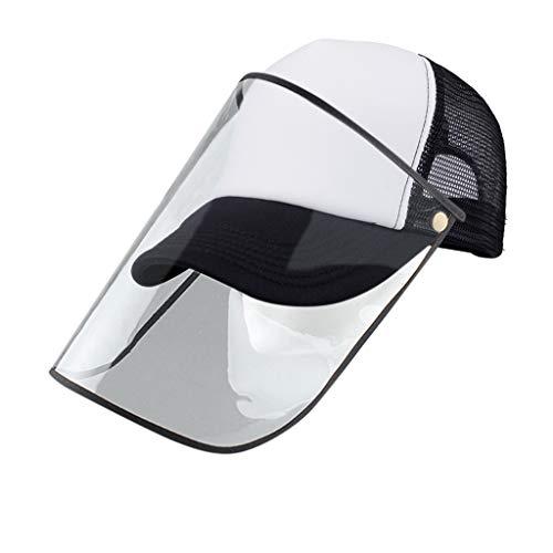 Sannysis Baseball Cap Unisex Outdoor Anti-Spitting Hat mit Visier Multifunktional Sonnenhut Schutzhut Anti-Spuck Visiere Hut Wasserdichtes Staubdichtes Gesichtsschutz Schutzkappe (B)