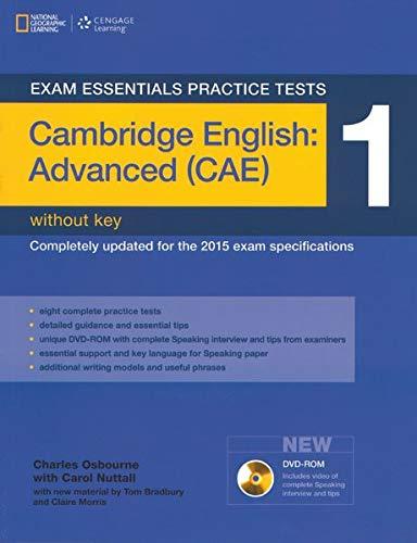 Exam essentials practice tests: Cambridge English: advanced. Without key. Per le Scuole superiori. Con DVD-ROM: CAMBRIDGE CAE PRACTICE TEST 1+DVDR