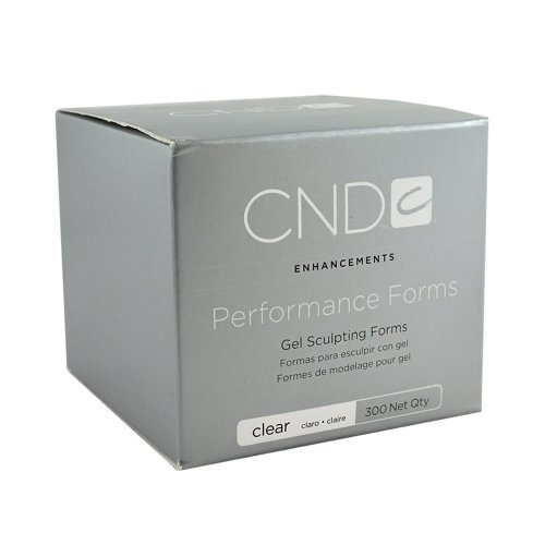 CND Creative Nail Design Performance Forms Gel Sculpting Forms Clear 300 Count