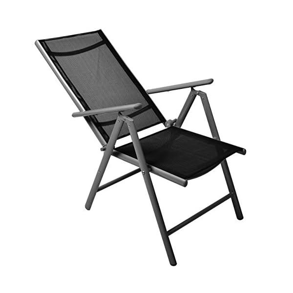 Nexos 6er Set Klappstuhl Gartenstuhl Campingstuhl Liegestuhl – Sitzmöbel Garten Terrasse Balkon – klappbarer Stuhl aus…