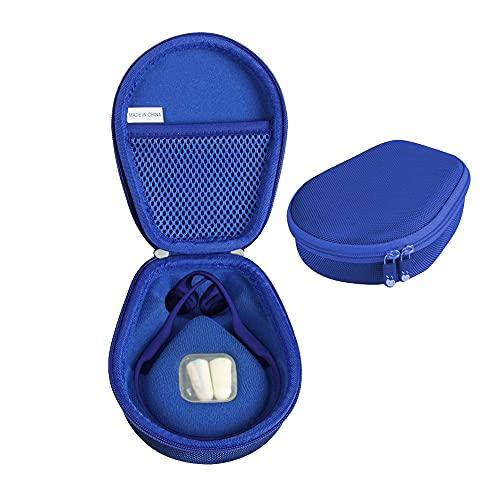 Hermitshell Duro Eva Viajar Caso para Aftershokz Trekz Air Correr Auriculares Conducción Osea Bluetooth Inalambricos Deportivos AS650 (Azul)