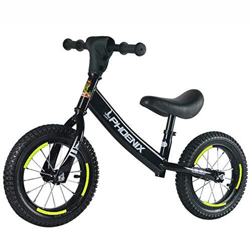 """SHARESUN 12"""" 14"""" Balance de Bicicletas, Bicicletas de Entrenamiento, sin Pedal Caminar Bike Balance, Estructura de Acero al Carbono, para niños y niñas de 2-6 años, Hacer un Regalo,Negro,14Inch"""