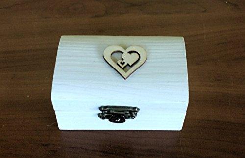 Anello box Bianco da sposa anello di nozze vetro anello scatola personalizzata anello portatore scatola proposta Custom anello nozze titolare gioielli scatola.8.5x5x4,5 cm.