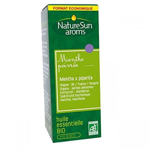 Naturesun aroms - Huile essentielle menthe poivrée bio - 30 ml huile essentielle - Pour le système d