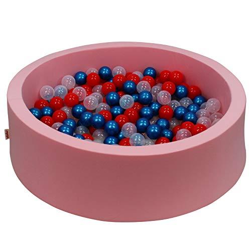snugo Bañera de bolas ecológica sostenible con 300 bolas, fabricada en Alemania, bolas sostenibles para piscina de bolas de caña de azúcar en lugar de plástico, calidad prémium de algodón orgánico