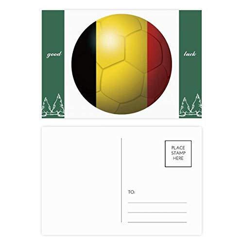 België Nationale Vlag Voetbal Wereld Beker Veel Geluk Postkaart Set Kaart Mailing Zijde 20 stks