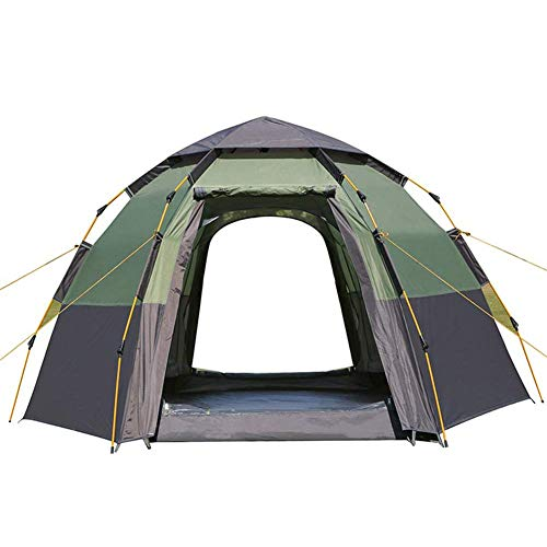 Double Layer Pop Up Tent 5-8 Person Automatic Camping Tent Waterproof Anti-UV Quick Set Up for Hiking Travel Outdoor