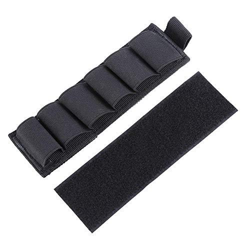 Nylon Shotgun Ammo Holder with Adhesive Backing Strip 6 Rounds, Black