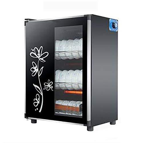 YangJ Kleiner Desktop-Desinfektionsschrank für den Haushalt, 125 ° C Hochtemperaturgeschirr Haushaltsküchen-Teetassenschrank mit einem Schlüssel zum Öffnen DREI Timings