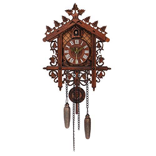 N/A Reloj de pared de madera hecho a mano, diseño de cuco