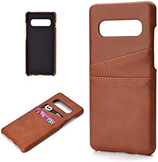 Protective Case Compatible with Samsung Premium PU Leather Wallet Anti-Scratch Protective Back Case with Card Slots Compatible Samsung Galaxy S10 Phone case (Color : Brown)