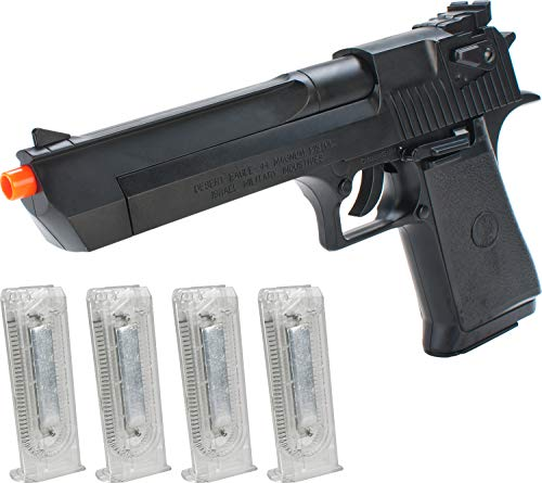 Evike Cybergun Desert Eagle Licensed Magnum 44 Airsoft Spring Pistol with 4 Extra Magazines by KWC/Softair