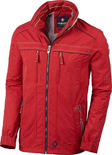 Redpoint Herren Funktionsjacke in Rot, mit verstaubarer Kapuze im Kragen, Übergangsjacke, Wind- und wasserabweisend, Outdoorjacke, Gr. 48-60