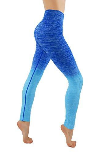 Fit Division Yoga Power Flex Dry-Fit Pants Workout Printed Leggings Ombre...