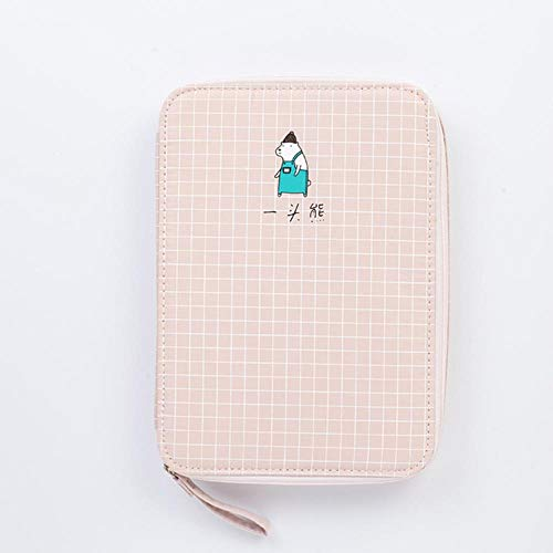 Kawaii Cat Dog School Pencil Case for Girls Boys Pen Bag Large Korean Penal for IPAD Box Stationery Pencilcase Pouch Supplies,Style 08 - Bear 01