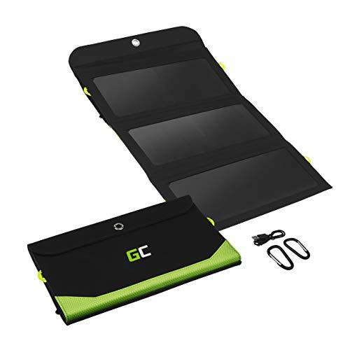 Green Cell® Chargeur solaire pliable 21W avec batterie 6400mAh