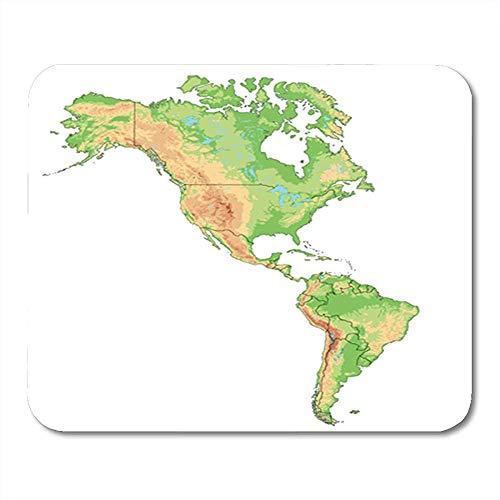 Gaming Mouse Pad Sur Alto Detallado Mapa Físico De Las Américas Norte Oficina Antideslizante Respaldo De Goma Mousepad Alfombrilla De Ratón