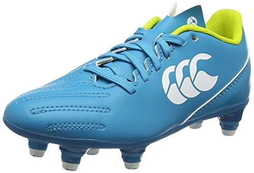 Canterbury Boys Control 2.0 Soft Ground Rugby Boots, Turquoise (Carribean Sea), 13 UK 32 EU