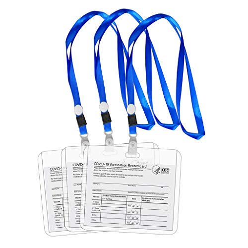 Wusuowei Protector de tarjeta de vacunación CDC plástico transparente impermeable 4x3 'CDC vacunación registro vacuna tarjeta de identificación titular