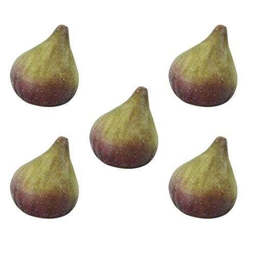 jojofuny 5 Piezas Artificiales Realistas Frutas Realistas Modelos Decorativos de Frutas de Higo para Accesorios de Fotografía Decoración de Fiesta de Cocina en Casa