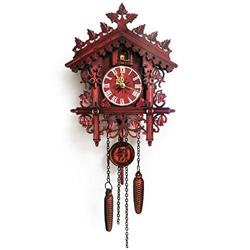 MILECN Cuckoo/Coo-Coo Uhr Schwarzwald, für Wohnzimmer, Kinder-Schlafzimmer, Küche, Büro, Wohnkultur Dekoration