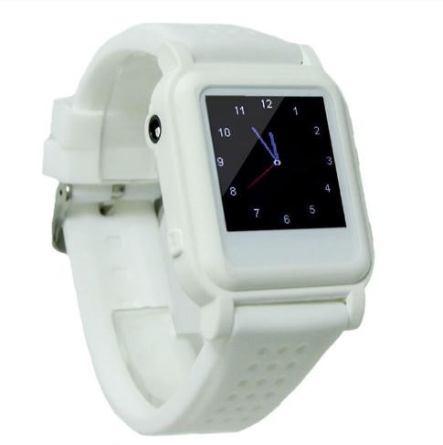 Orologio elettronico con pulsante di emergenza (bianco)