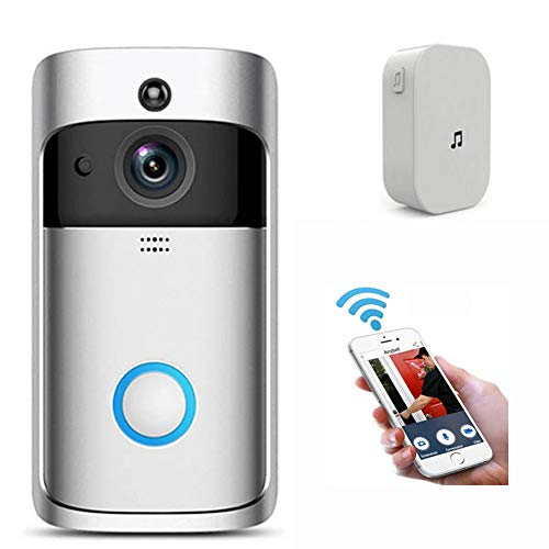 Ochine Wireless Video Doorbell with Chime, Battery Operated Doorbell...