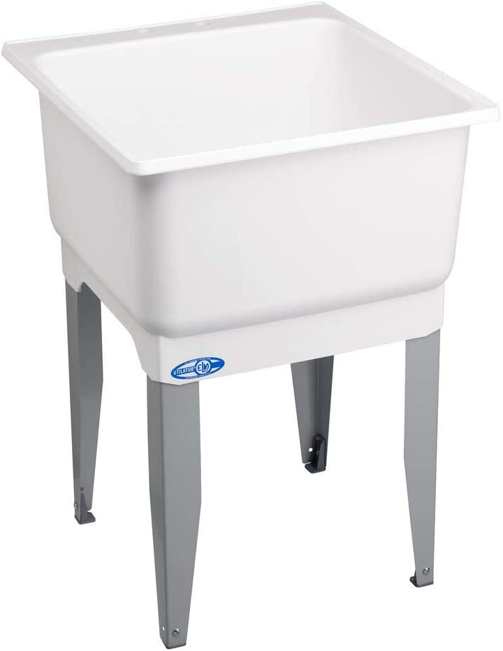 Sink Now free Challenge the lowest price shipping 23 in. x 25 Polypropylene Laundry Floor Mount - Tub por