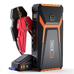 TACKLIFE T8 ARRANCADOR DE Coches de hasta 6500cc (Gasolina) y 5500cc (diésel) – 800A/18000mAh Arrancador de Batería de…