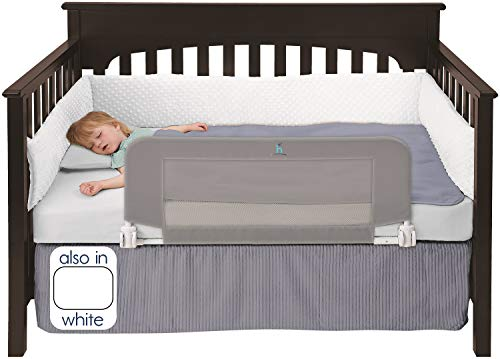Find Bargain hiccapop Convertible Crib Toddler Bed Rail Guard with Reinforced Anchor Safety