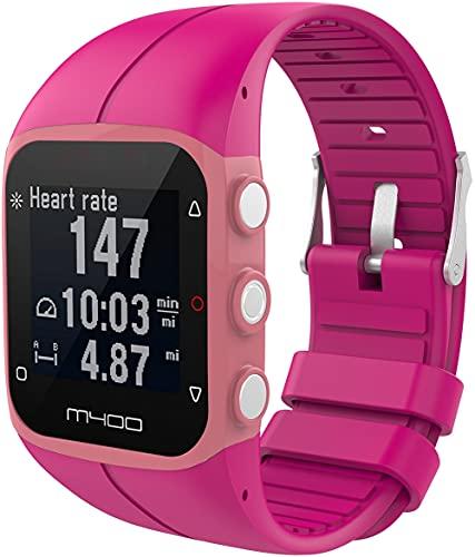 Classicase Correa de Reloj Compatible con Polar M400 / M430, Silicona Correa Reloj con Acero Inoxidable Hebilla desplegable (Pattern 5)