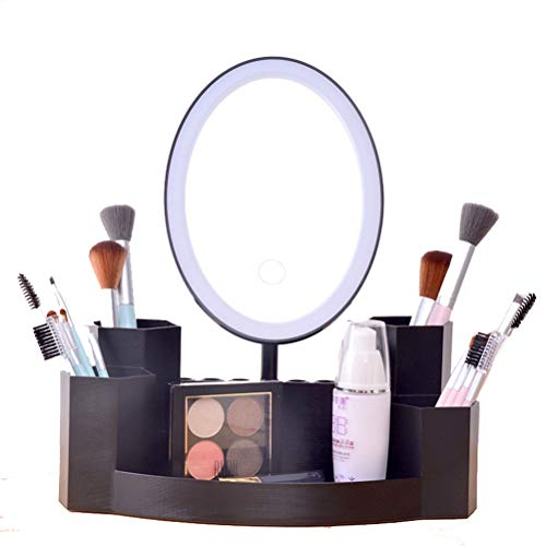 Leuchtender Schminkspiegel - LED Kosmetikspiegel Beleuchteter Reisespiegel Kompakt Mit...