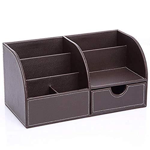 SKYEI Caja de almacenamiento de escritorio multifuncional de negocios organizador de tarjetas lápiz teléfono móvil papelería soporte de control remoto escritorio