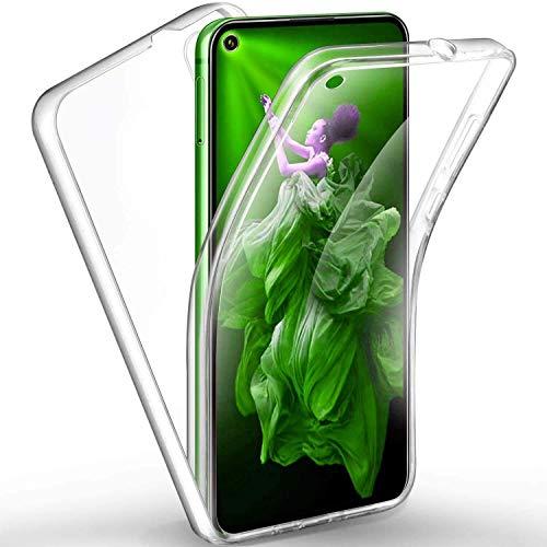 COPHONE - Funda para Huawei NOVA 5T 100% Transparente 360 Grados de protección Completa Delantera Suave + Trasera rígida. Funda táctil 360 Grados antigolpes para Huawei NOVA 5T