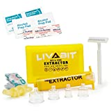 LIVABIT Venom Extractor Suction Pump Kit, Snake Bite Kit, Bee Sting Kit, Emergency First Aid Supplies for Hiking, Camping, Backpacking   Insect Sting & Rattlesnake Bite Treatment + Bonus CPR Shield