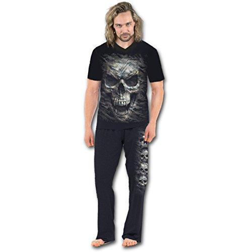 Spiral - Camo-Skull - Pyjama Gothique - Ensemble 4 pièces -...