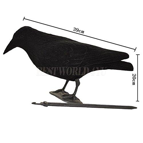 Beflockte Krähe/Elster und bemalte Hälfte Body Taube Köder Shell Jagd Shooting Fake Bird Anlocken